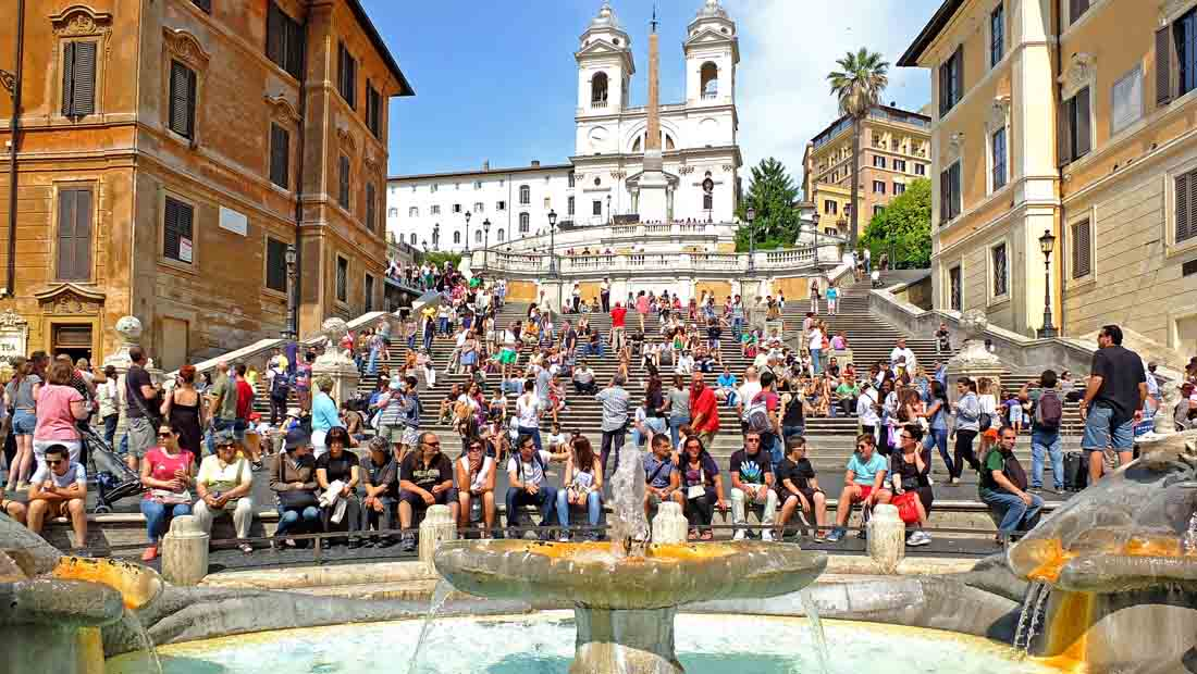 Roma Gezilecek Yerler : İspanyol Merdivenleri