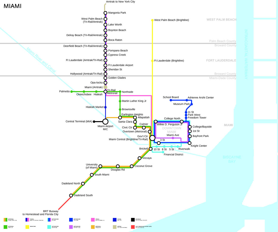 Miami Metro Haritası