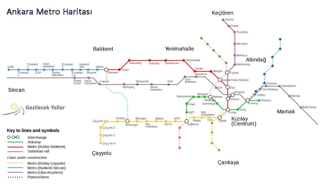 Ankara Metro Haritası