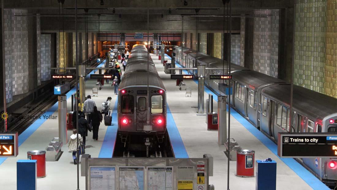 Chicago Blue Line Tren