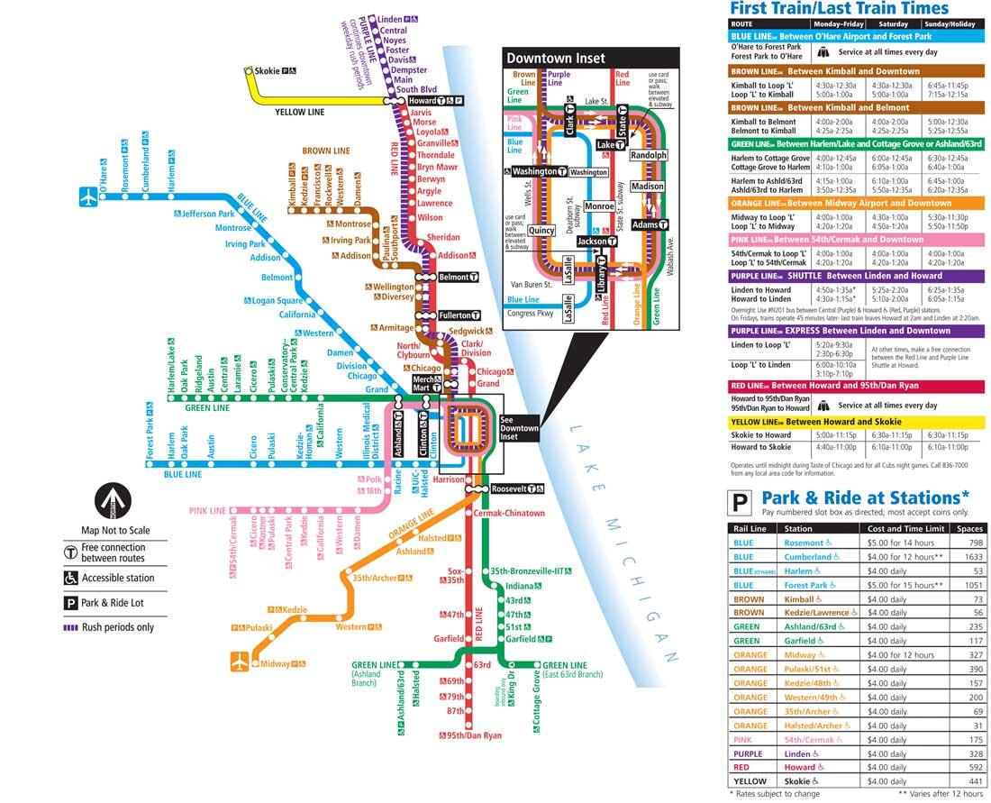 Chicago Metro Haritası