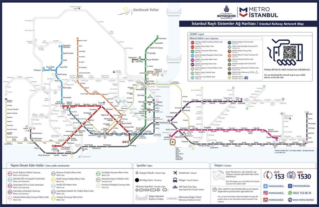istanbul metro haritası