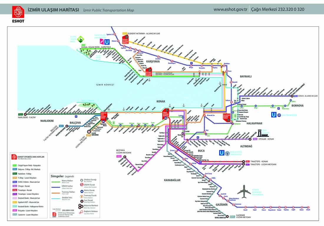İzmir Metro Haritası
