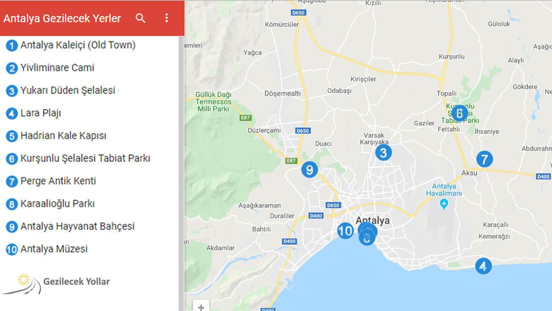 Antalya Google Haritası