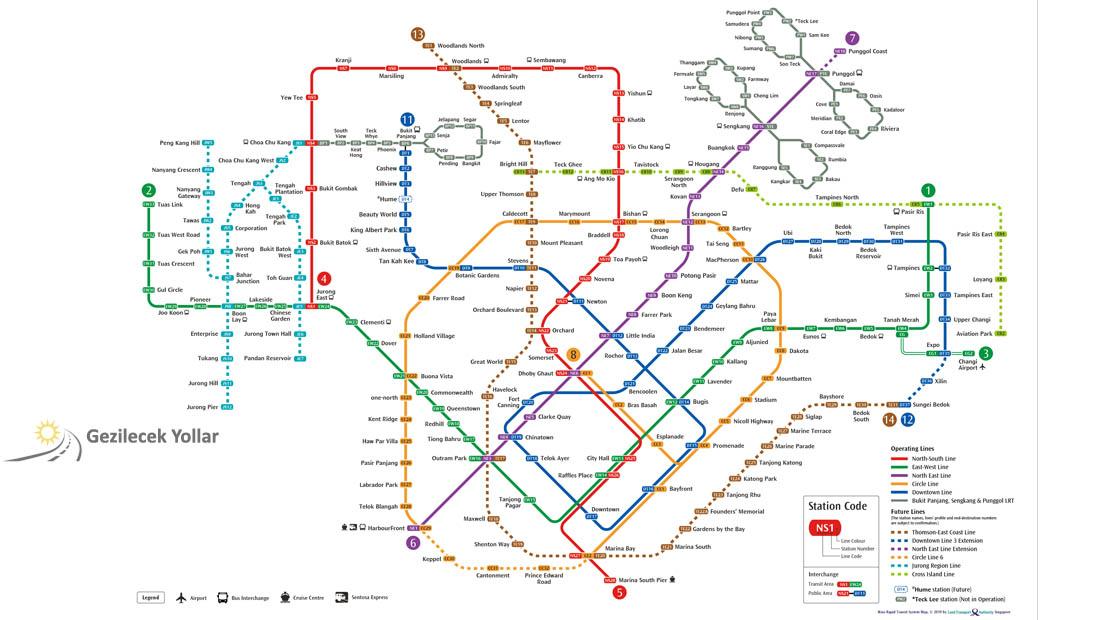 Singapur Metro Haritası