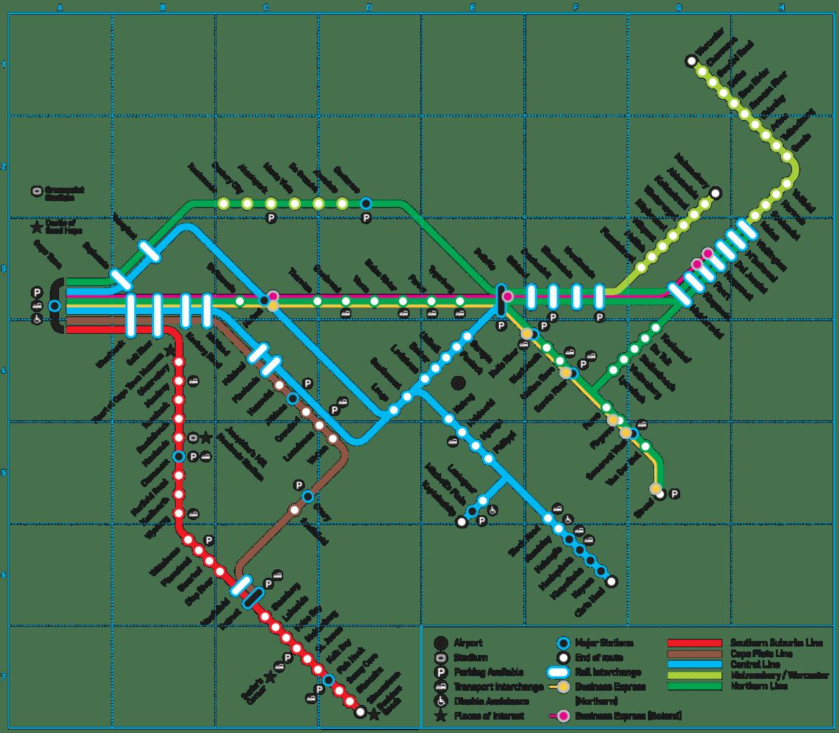 Cape Town Metro Haritası
