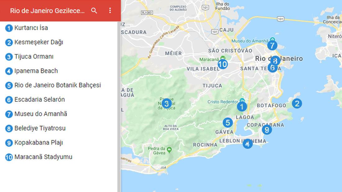 Rio de Janeiro Google Haritası