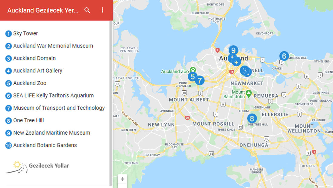 Auckland Google Haritası