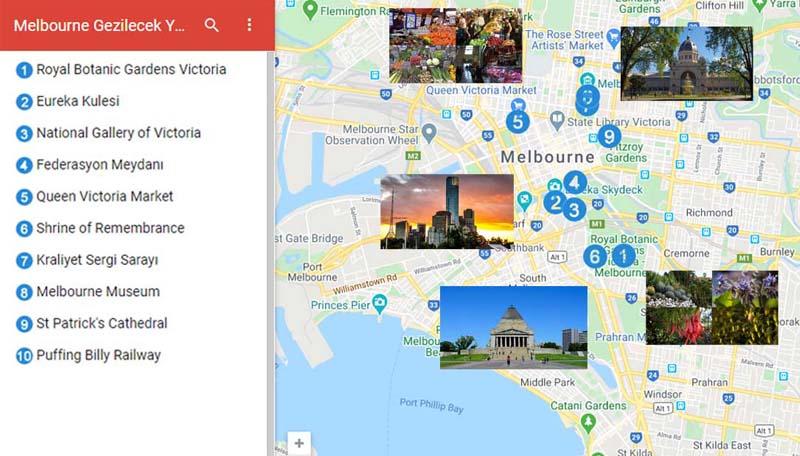Melbourne'da gezilecek yerler