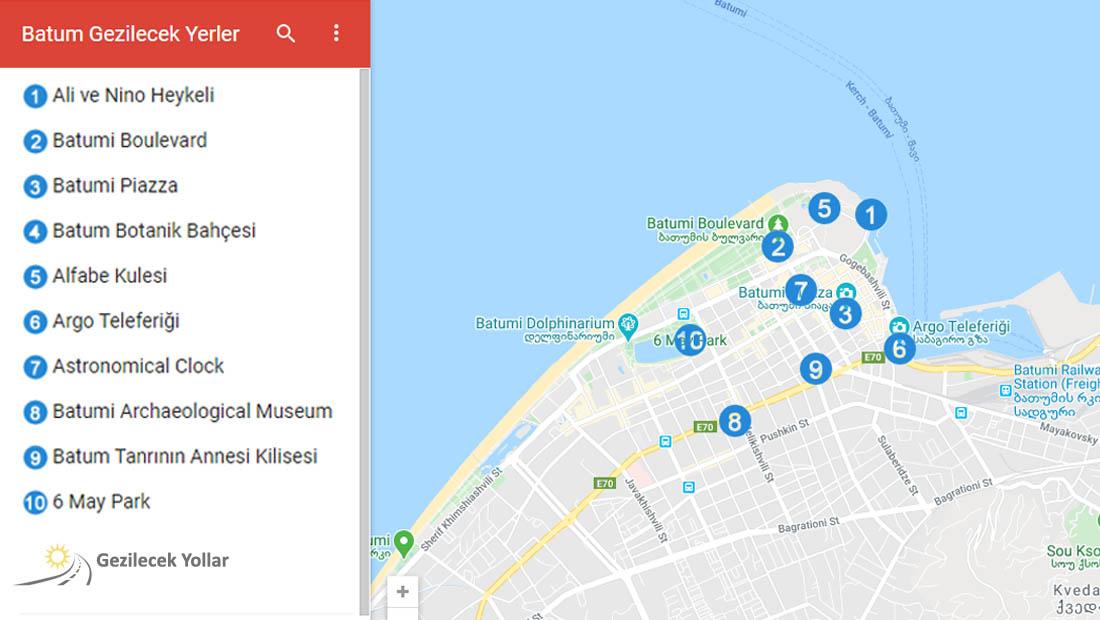 Batum Google Haritası