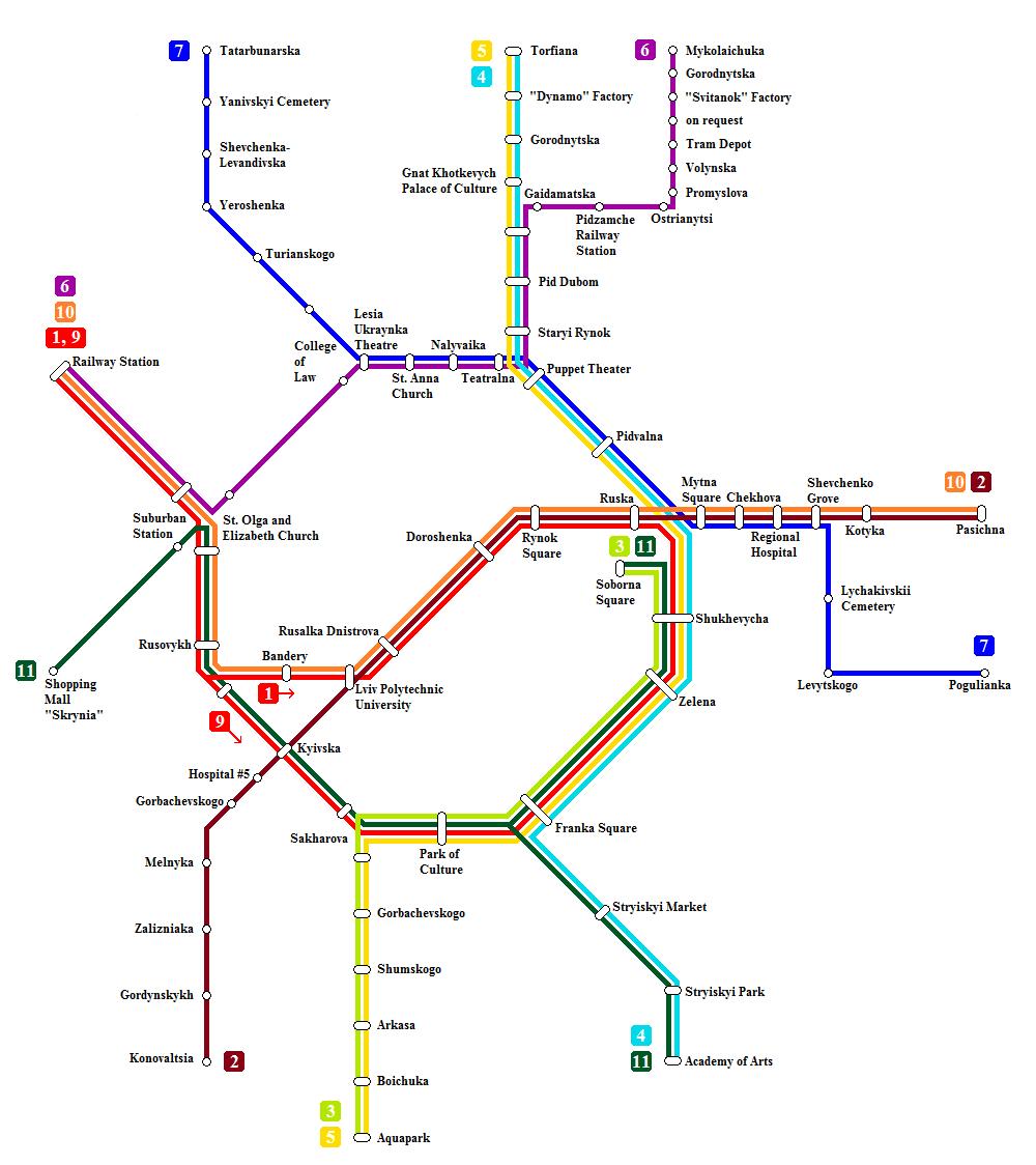 Lviv Tramvay Haritası