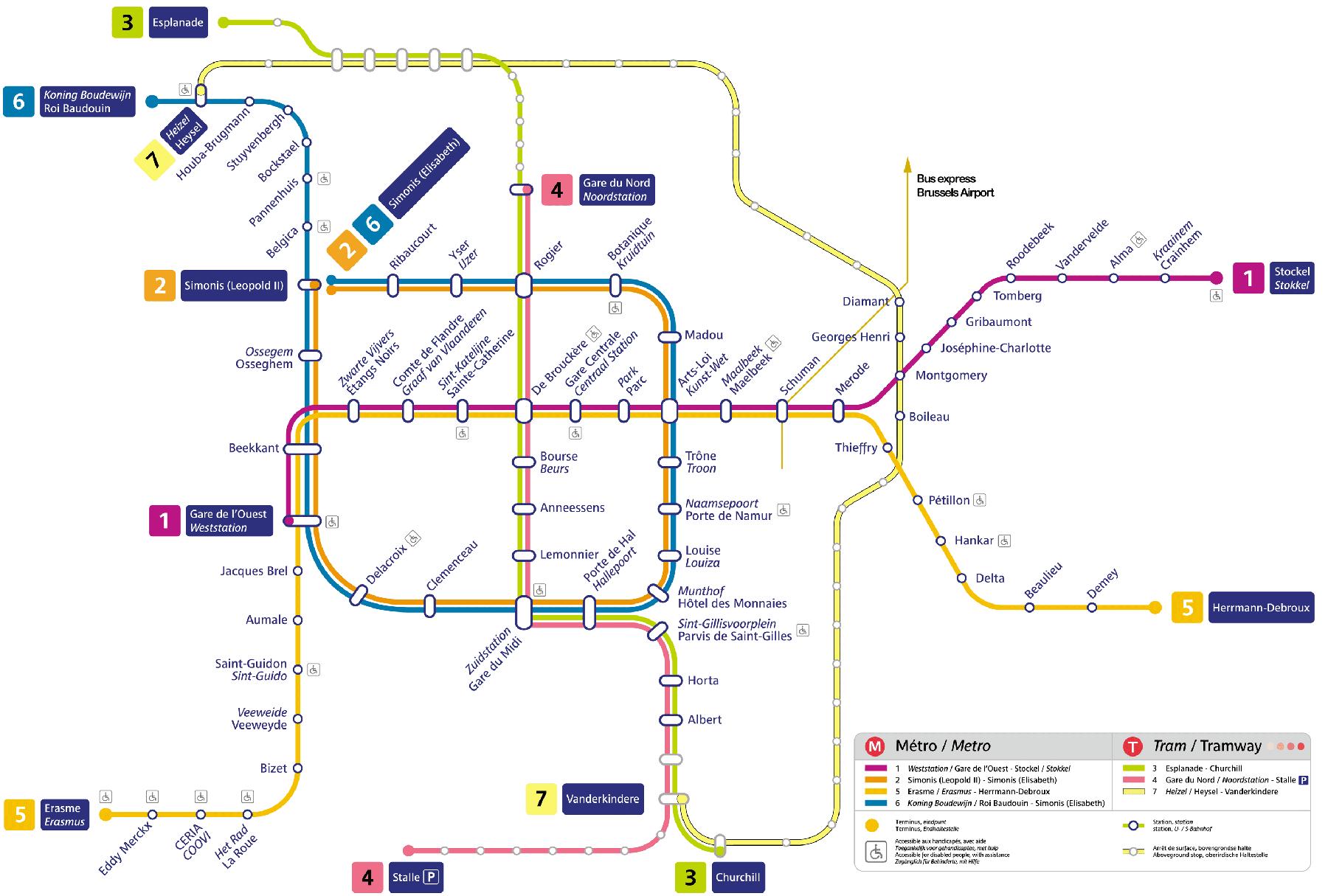 Brüksel Metro Haritası