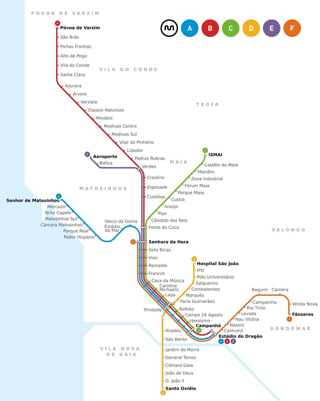 Porto Metro Haritası